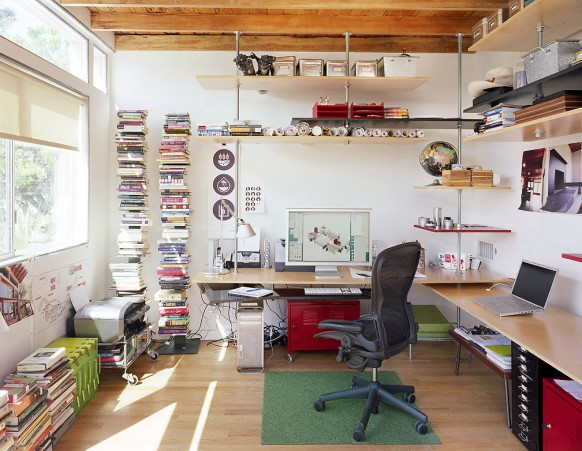 7 id es de d co de bureau miliboo blog for Idee decoration bureau maison