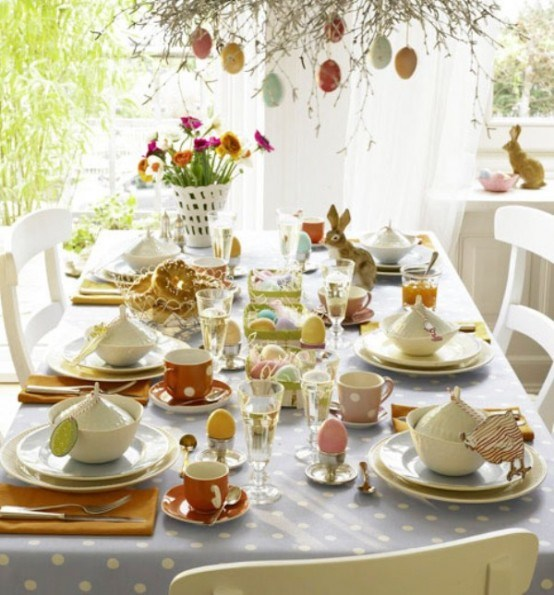 Spring table decorations crafts photograph id es de d co - Decoration de paques ...