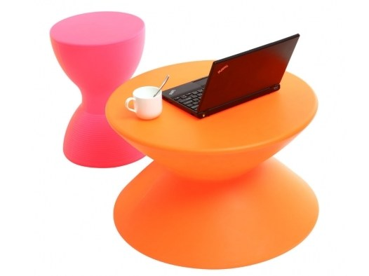 Table basse design orange Idea miliboo