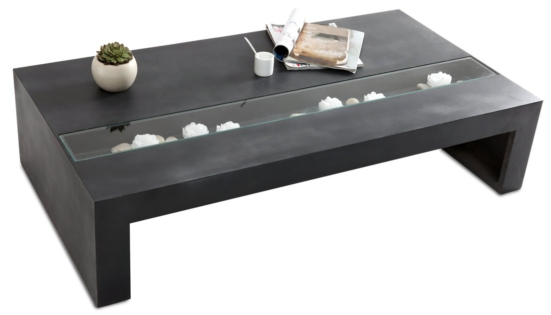 Table basse grise beton - Table basse grise design ...
