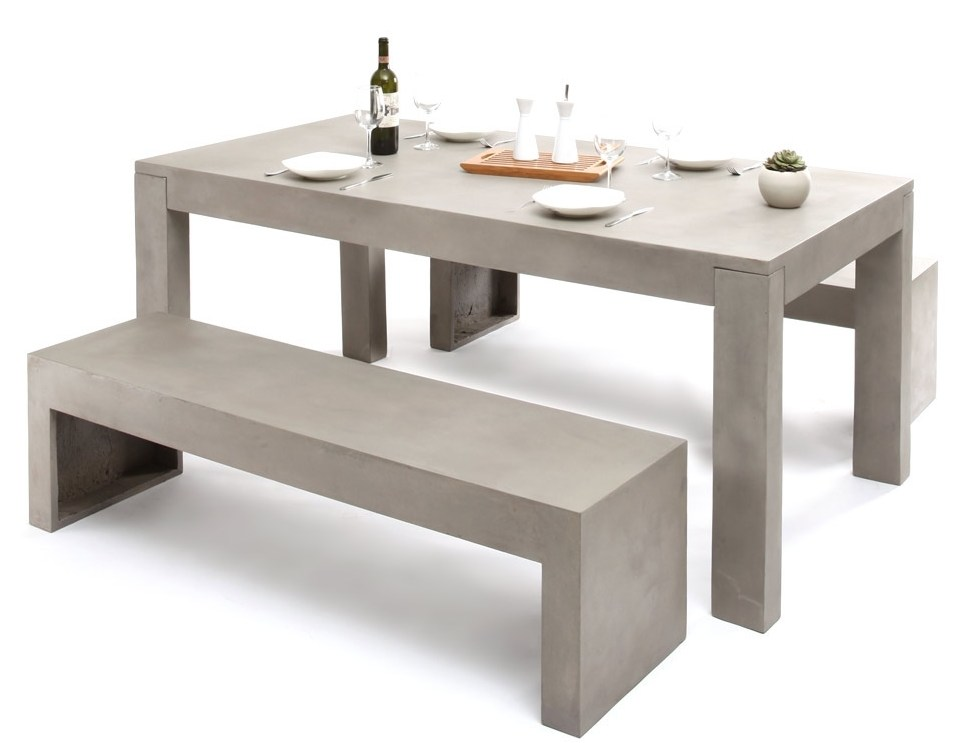 meuble table design beton alwin de miliboo