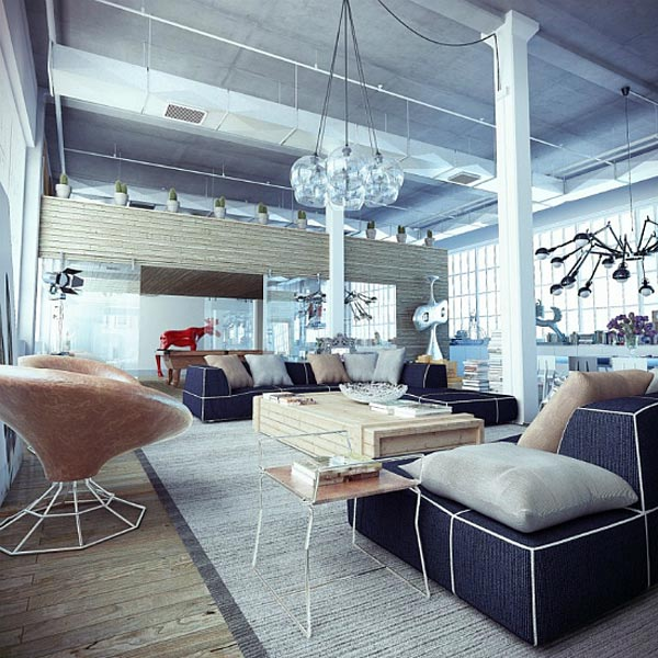 Style indus pour un loft r ussi miliboo blog for Decoration loft