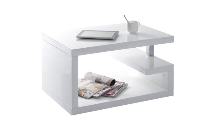 Table basse laqu e blanche gascity for for Table basse design blanche