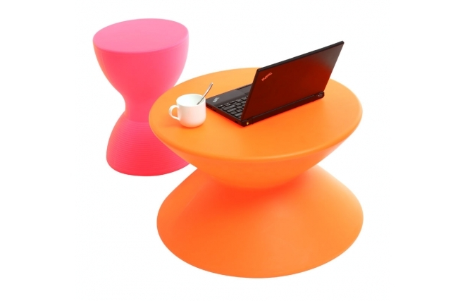 table basse design orange ida de miliboo