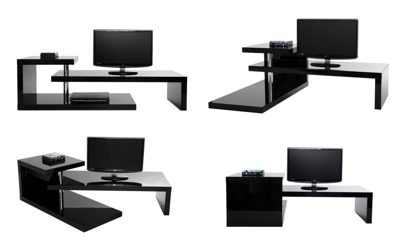 Meuble tv angle contemporain design arprosa com for Meuble tv design