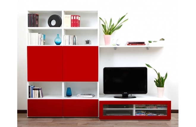 ensemble-mural-tv-design-blanc-et-laque-rouge-kelis-by-symbiosis