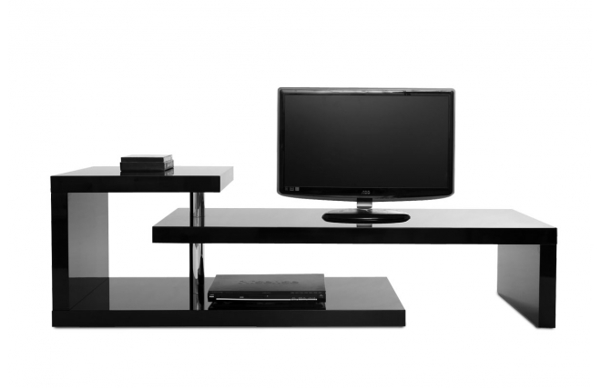 meuble-tv-design-laque-noir-turn