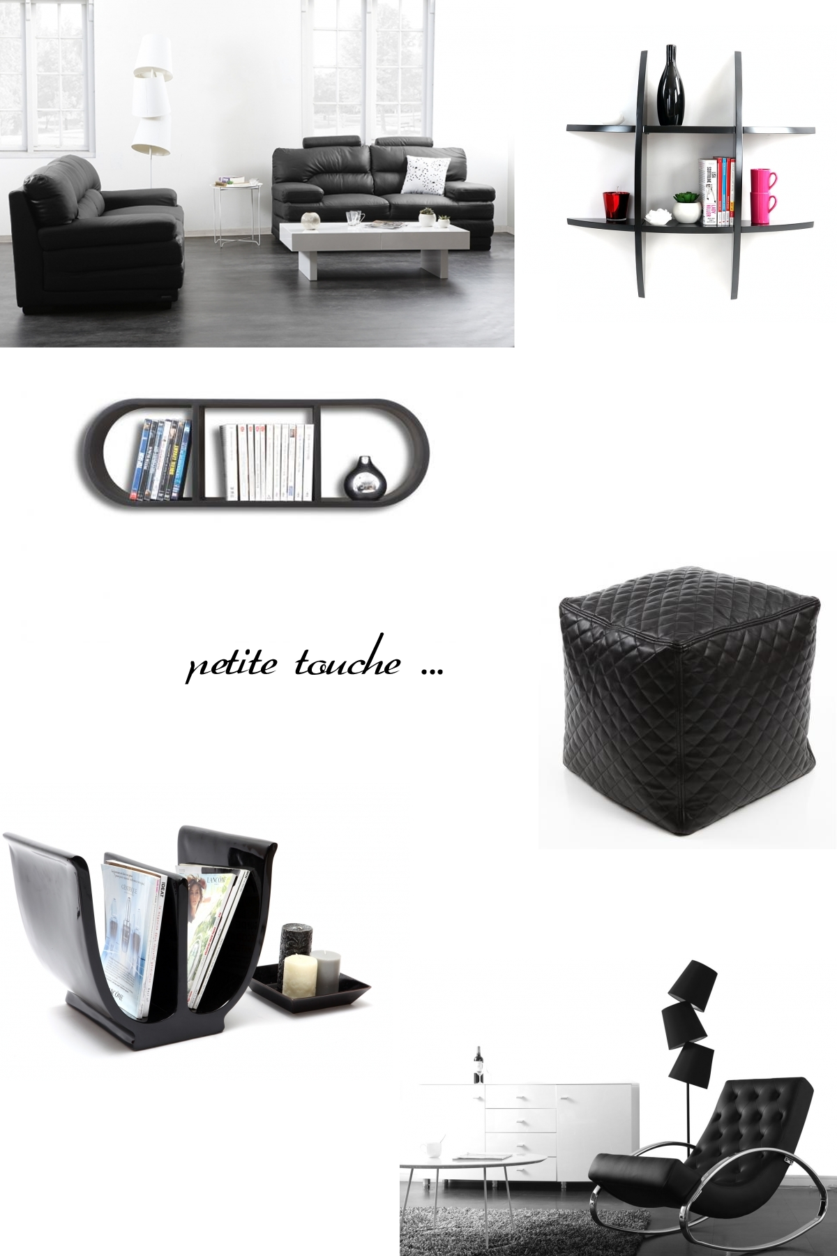 le noir pour un int rieur moderne miliboo blog. Black Bedroom Furniture Sets. Home Design Ideas