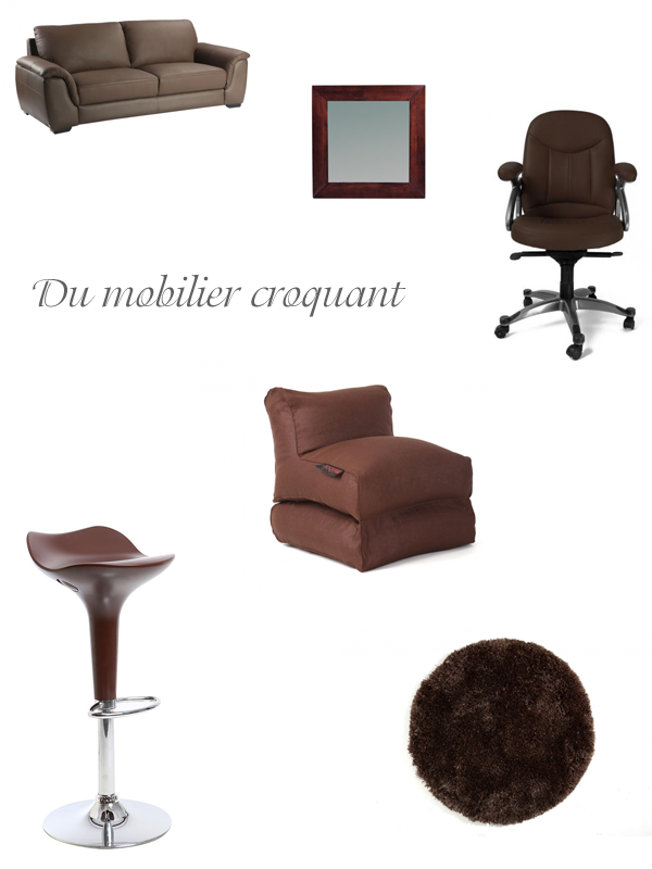 selection mobilier chocolat