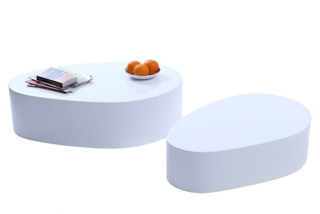 Table basse blanche CAMILLE