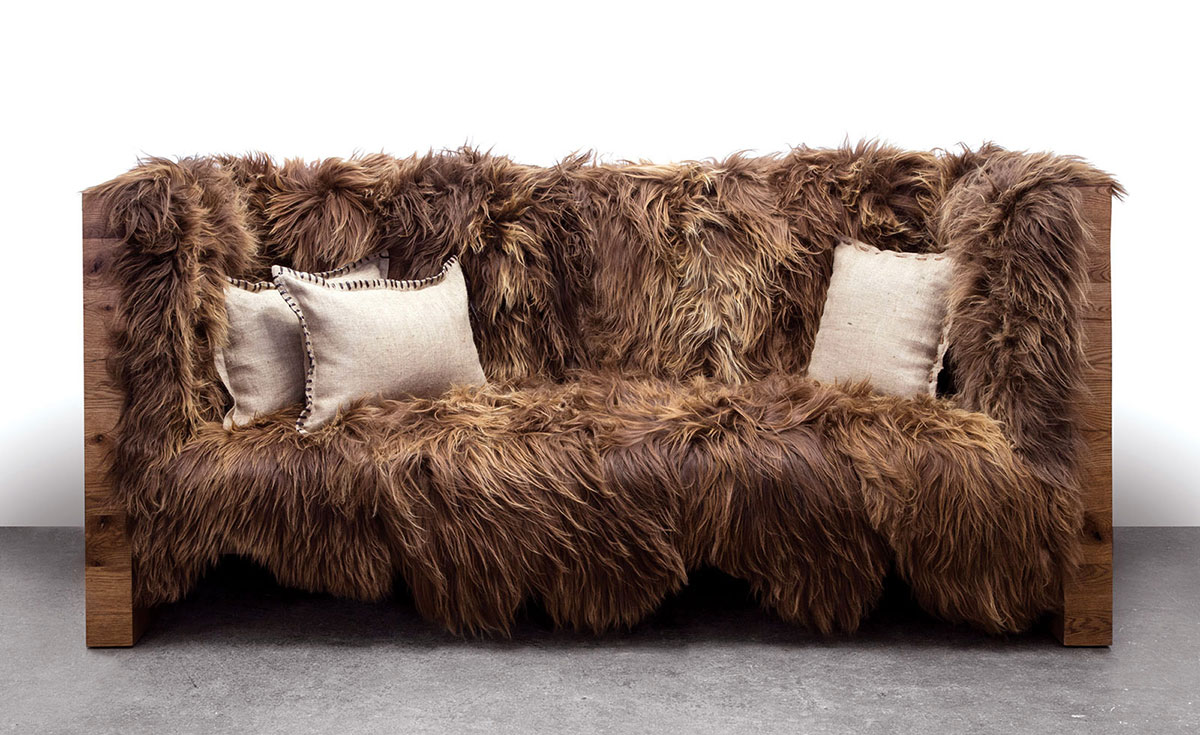 Sentient Long wool sofa miliboo