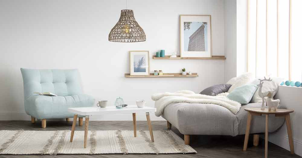 Salon scandinave cocooning