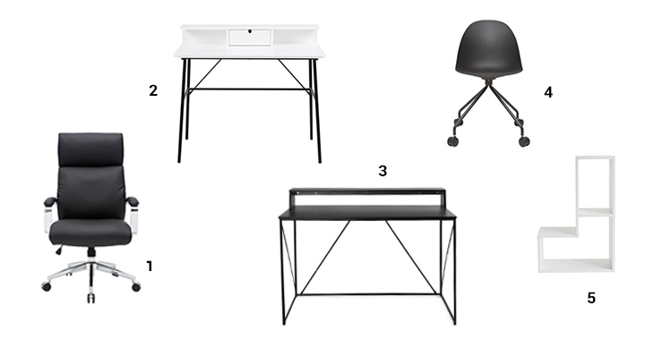 Selection meubles de bureau contemporains Miliboo