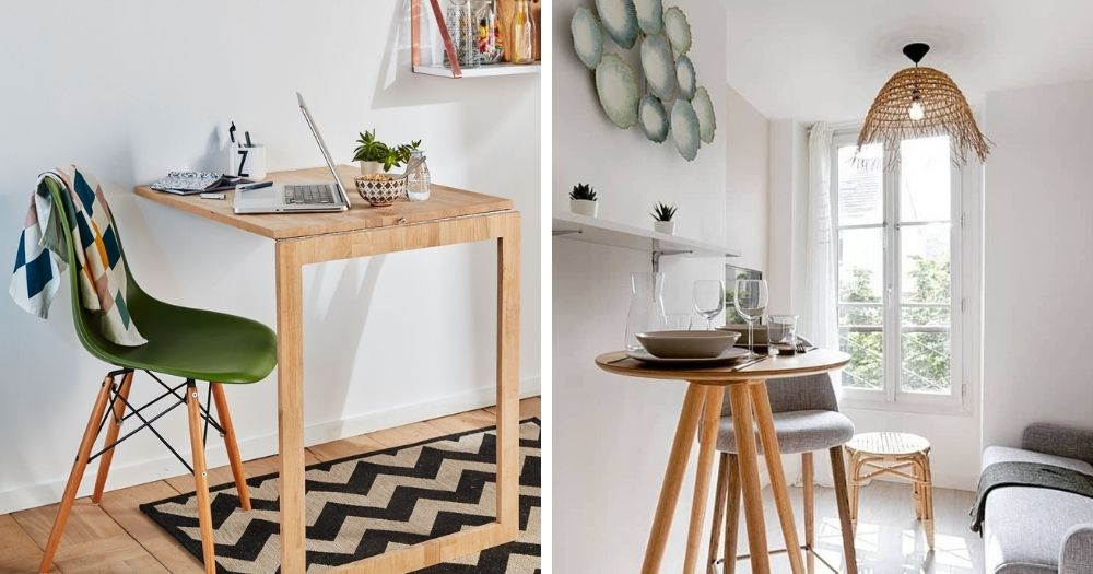 Table escamotable diy et table bar pour studio